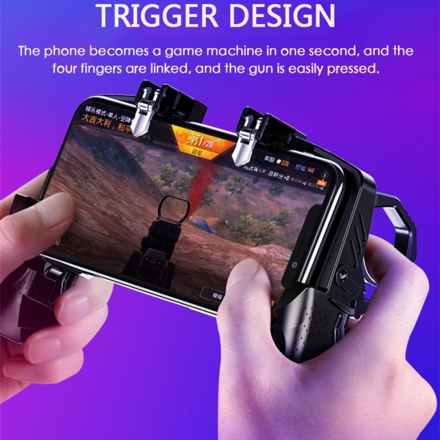 K21 Game Handle PUBG Mobile Phone Gamepad Joystick L1 R1 Trigger Game Shooter Controller For iPhone SamSung Xiaomi Phone 1