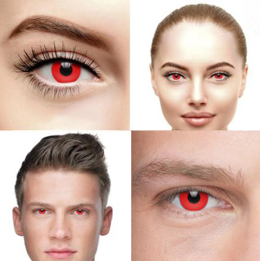 EYESHARE 1 Pair Halloween 365 Day Coloured Contact Lenses Pure Color Cosplay Contact Lens for Eyes 4