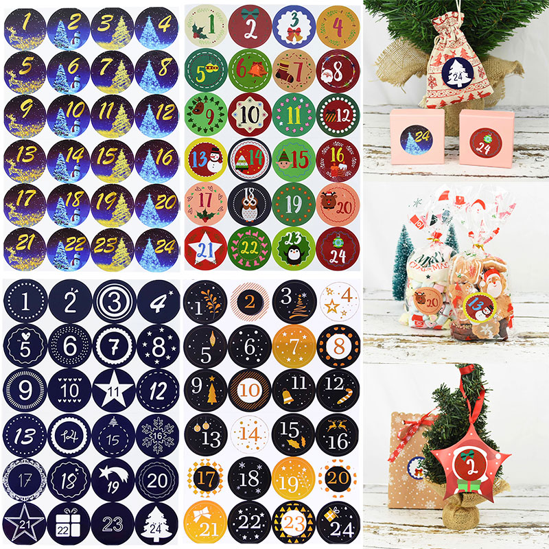 Picture trick red on white 40 mm sticker Stickers Kids red riddles adventcalendarnumbers Advent calendar numbers for children