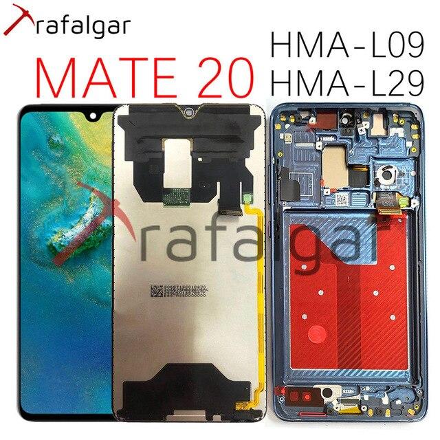 ترافالغار عرض لهواوي ماتي 20 LCD عرض تعمل باللمس محول الأرقام الشاشة مع الإطار استبدال لهواوي ماتي 20 عرض HMA L29