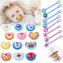 Newborn Baby Pacifier Safe Silicone Nipple Soother Anti-dust Lid Infant Teether Toddlers Cute Cartoon Pacifier for Kids child(China)