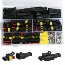 708Pcs 12V Waterproof Car Electrical Wire Connectors Terminals Assortment Kit Male and Female Terminal Connectors CSV