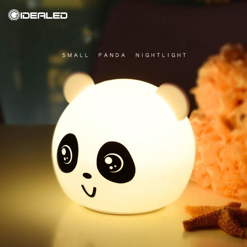 cabeceira panda dos desenhos animados sensivel ao toque lampada atmosfera 04