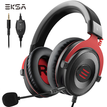EKSA E900 Stereo Gaming Headset Gamer Für Telefon PS4 Xbox PC 3,5mm Wired Gaming Kopfhörer Mit Noise Cancelling Mikrofon
