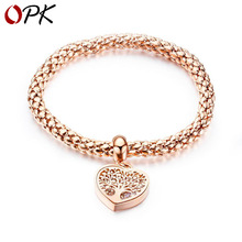 OPK Cross border hot sale fashion in Europe and America titanium steel Life Tree Bracelet female hollow Life Tree Bracelet caroline cowles richards village life in america