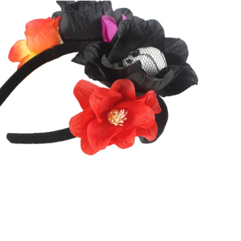 Image 2 - Halloween Day of The Dead Simulation Flower Crown Headband Womens Horror Foam Skull Hair Hoop Cosplay Party Favors Headpiece-in Styling Accessories from Beauty & Health