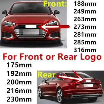 4 кольца ABS серебристый черный Автомобильный капюшон передний капот Гриль задний багажник эмблема логотип значок наклейка для Audi автомобил...