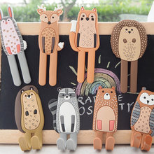 Cartoon animal fridge magnet refrigerator stickers hook magnetic cute refrigerator decoration strong magnet 3D magnetic stickers