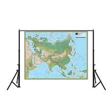 150x100cm Physical Map of Asia Non-woven Waterproof Without National Flag For Culture And Education