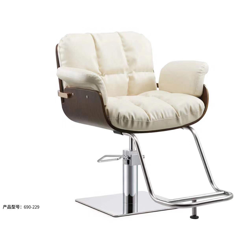 Net Red Barber Shop Chair Hair Salon Special Haircut Chair Lift Disc Seat European Style Simple Modern Hairdressing Chair