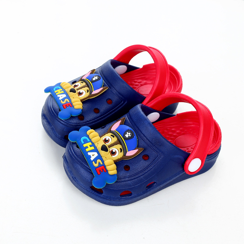 2020 New Summer Paw Patrol Children's Cartoon Chase Skye  Figure Characters Shoes Boys And Girls Baby Slippers Gift Fit2-5y