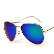 [3026] Color Film Sun Glasses Big Box Aviation Sunglasses Polarized Sun