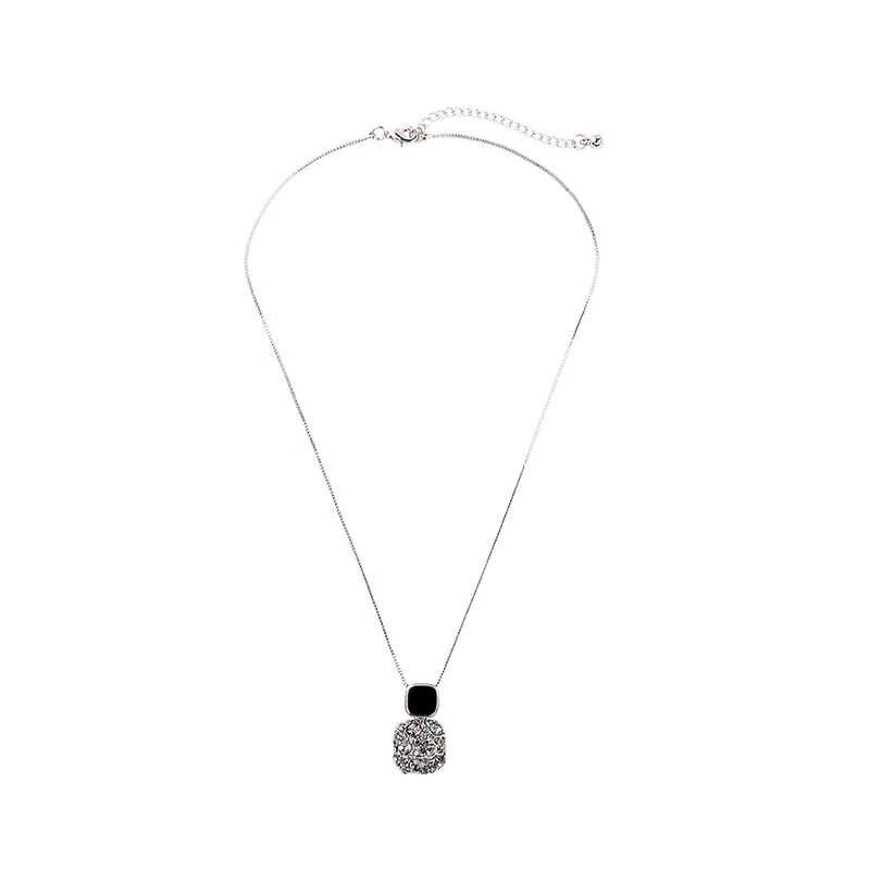 Female Big Geometric Earrings Neckalce Fashion Crystal Wedding Earrings Necklace Jewelry Vintage Long Dangle Earrings For Women