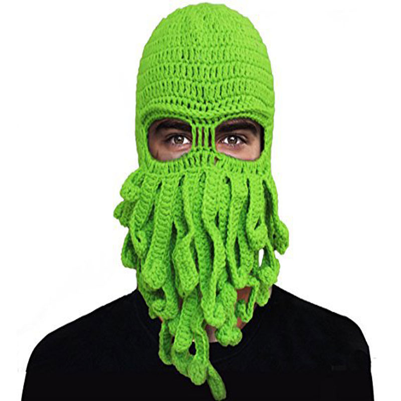 2019 new fashion octopus wool hat to keep warm Halloween party hip hop hat funny hat