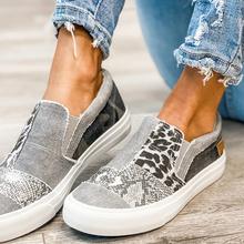 Nowe damskie płaskie buty na co dzień wąż buty wzór kobiety dopasowane kolory niskie tenisówki damskie Outdoor Sports plus size Shoes tanie tanio HULINGMEI Podstawowe CN (pochodzenie) Płótno RUBBER Gumką Pasuje prawda na wymiar weź swój normalny rozmiar Płytkie