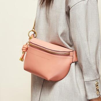 Real Leather Waist Pack female Belt Bag Designer women chest bag New Fashion purse waist bags shoulder bags fanny pack for women