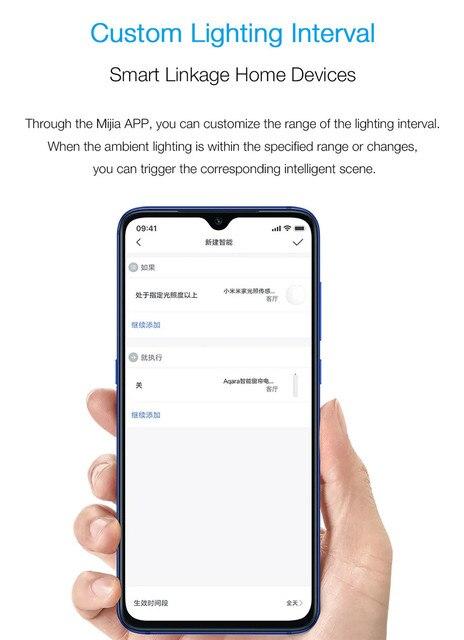 Original xiaomi Mijia Smart Light Sensor Zigbee 3.0 Light Detection Intelligent Linkage Waterproof work With Multimode Gateway 6