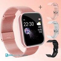 Reloj inteligente deportivo para hombre y mujer, pulsera impermeable con rastreador de Fitness, para Android e IOS, 2021