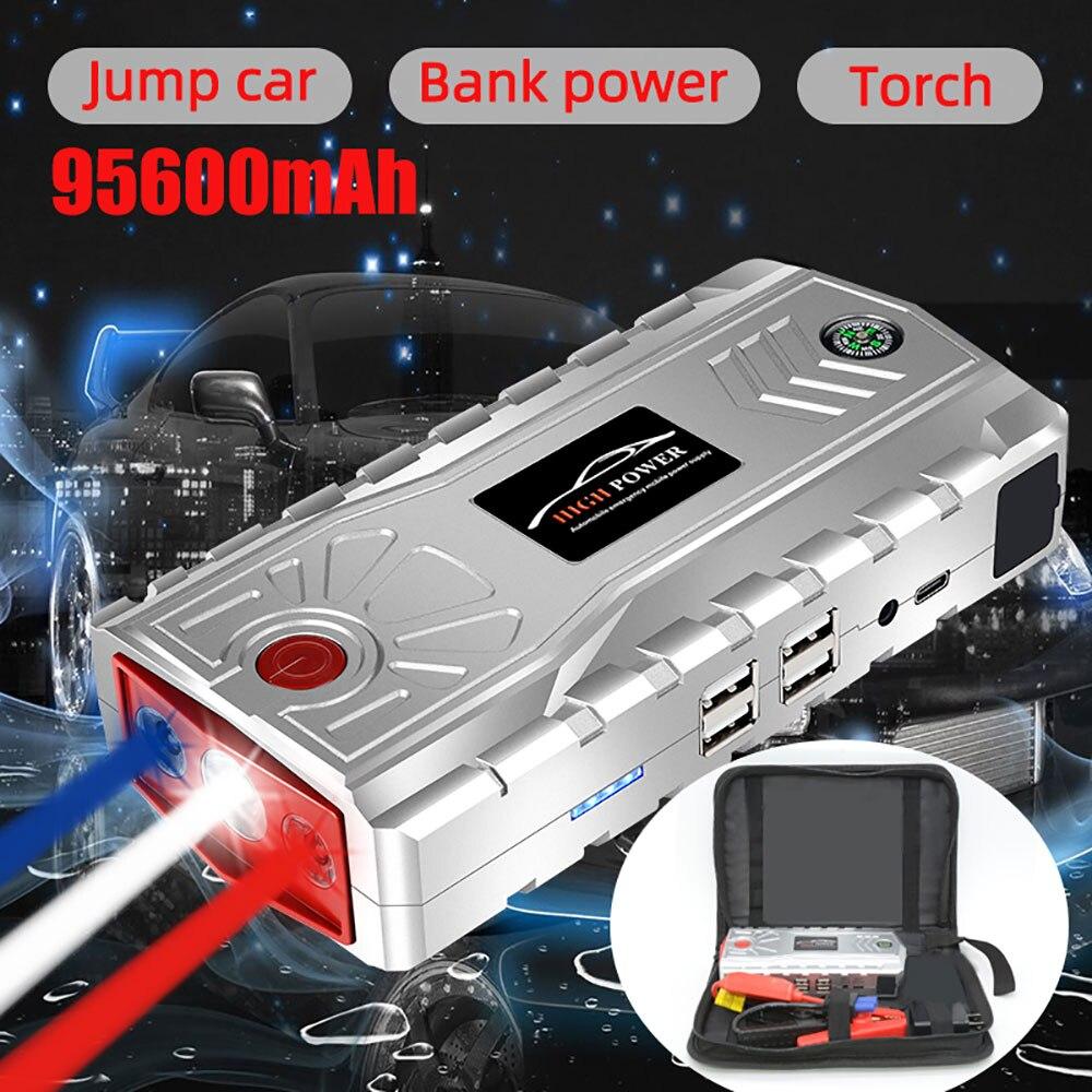 VicTsing 95600mAh Car Jump Starter Power Bank Booster Battery Charger US/EU/UK/AU Plug LED Torch Light 12V Motor Auto Starter