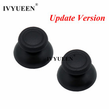 IVYUEEN 100 PCS Black Gray Thumbsticks Cap For Dualshock 4 PS4 DS4 Pro Slim Controller Analog Thumb Stick Cover for PlayStation4