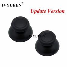 Ivyueen 100 pçs preto cinza thumbsticks boné para dualshock 4 ps4 ds4 pro fino controlador analógico polegar vara capa para playstation4