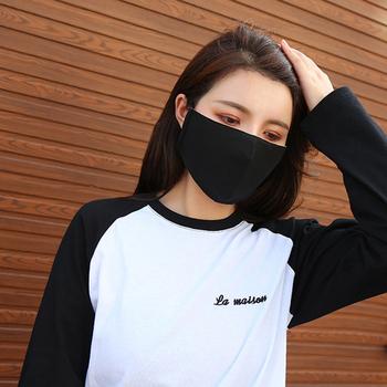 Maska przeciwsmogowa maska zmywalna wielokrotnego użytku maski bawełna Unisex mufla usta dla alergii astmy podróży jazda na rowerze tanie i dobre opinie 100 COTTON