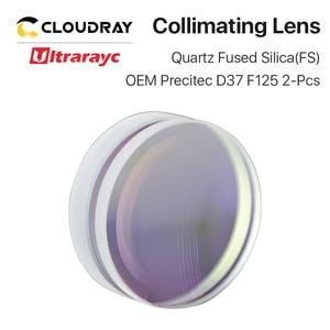 Image 2 - Ultrarayc 구형 포커싱 렌즈 D37 F75 F100 F125mm Precitec 석영 융합 실리카 렌즈, 고 에너지 섬유 레이저 용