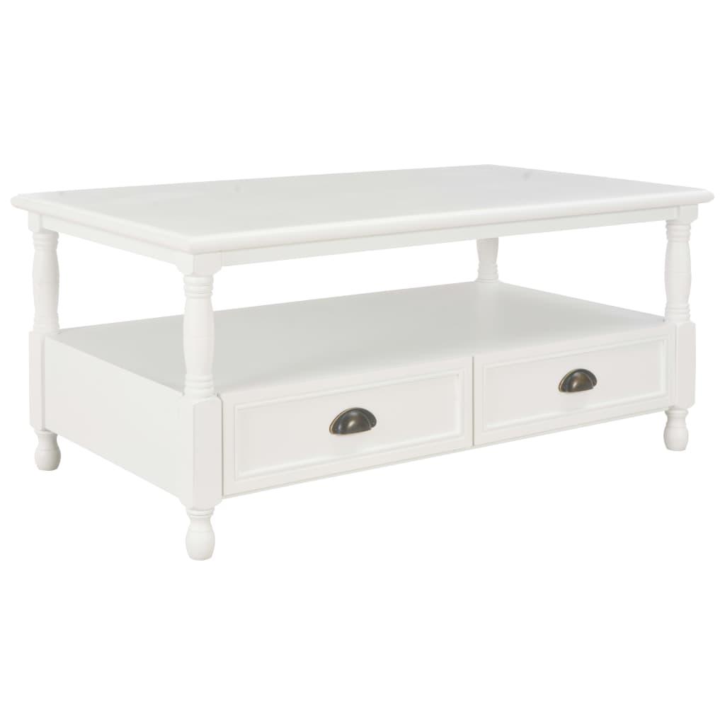 VidaXL Coffee Table White 100x55x45 Cm Wood