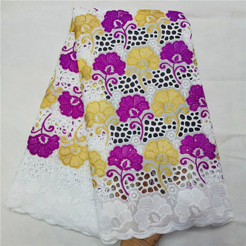 swiss voile lace in switzerland 2020 high quality lace dubai fabric 100%cotton voile lace nigerian lace fabrics 5yards H82-893