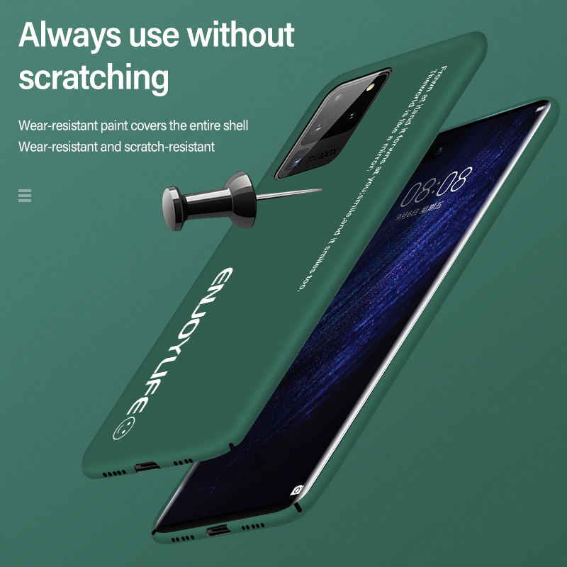 Ultra-thin Matte PC Phone Case For Samsung Galaxy S21 S20 S10 E S9 Note 20 10 9 Plus Shockproof Cover 4