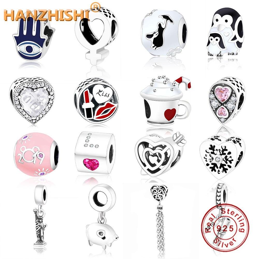 2019 Fashion Jewelry Fit Original Pandora Charm Bracelet 100% 925 Sterling Silver DIY Bead Fow Women Gift Berloque Factory Price(China)