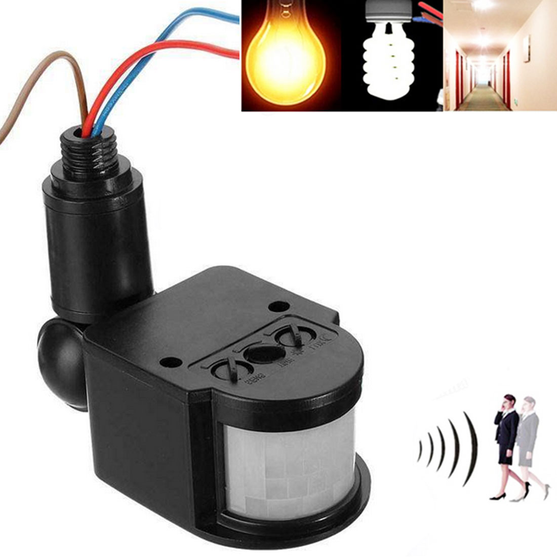 LED Motion Sensor 12V Automatic Infrared PIR Movement Detector Wall Mount Timer Outdoor 12 Volt Sensor Light Switch