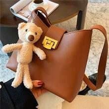Элегантная женская сумка ведро качественные кожаные сумки на