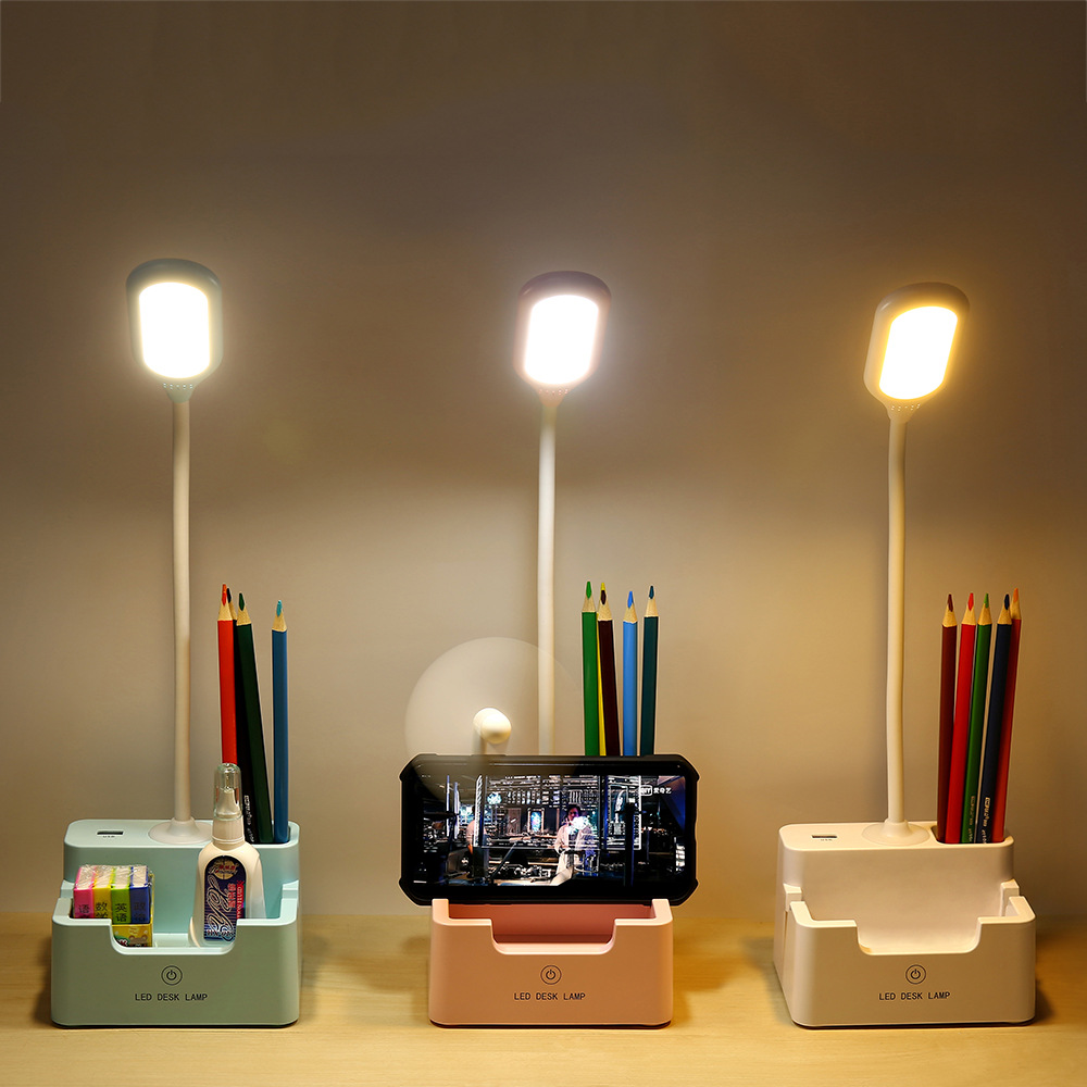 Usb Rechargeable Eye Protection Reading Desk Lamp Led Creative Bedroom Children Learning Touch Small Desk Lamp