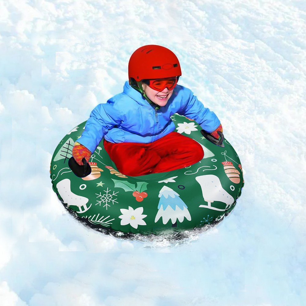 Habe8d8448a4f44acb0acb46eab3aa08cz - Floated Skiing Board PVC Winter Inflatable Ski Circle With Handle Durable Children Adult Outdoor Snow Tube Skiing Accessories #C
