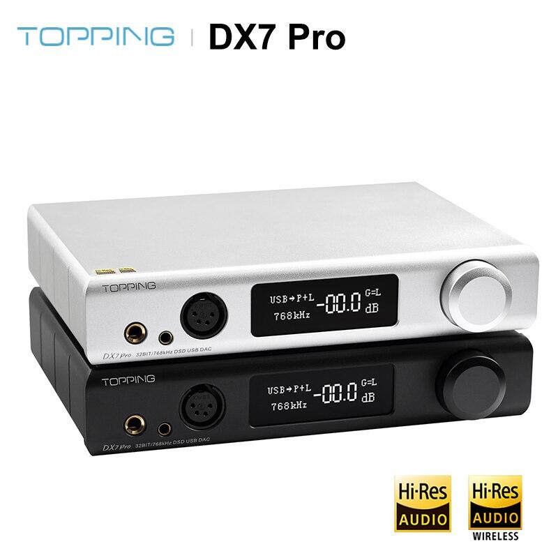AMPLIFICADOR DE AURICULARES DX7 PRO Bluetooth 5,0 ES9038Pro USB DAC amplificador inalámbrico de alta resolución DSD1024 PCM 32bit/768kHz DX7SPRO