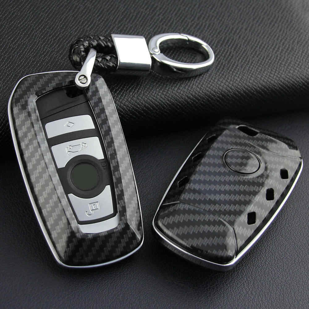 For Bmw Car Key Fob Chain Hard Shell Cover Case Holder Accessories Carbon Fiber Car Key Case Key Case For Car Aliexpress