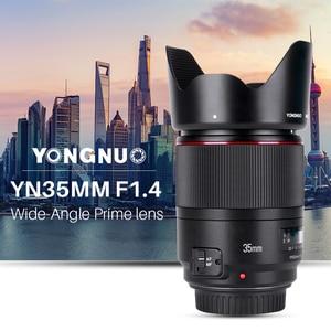 Image 2 - Yongnuo lente com ângulo aberto 35mm f1.4, lente para canon 5dii 5d 500d 400d 600d 60d para canon dslr lente da câmera,