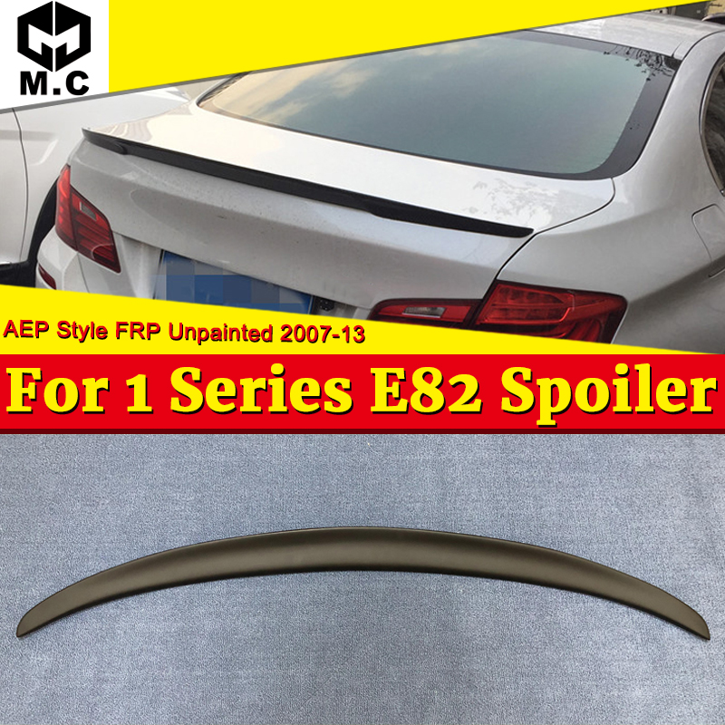 <font><b>E82</b></font> Rear Trunk Spoiler Wing P style FRP Unpainted For <font><b>BMW</b></font> 1 series 120i 125i 128i 130i <font><b>135i</b></font> wing Lip rear spoiler M look 07-13 image