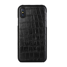 Solque Real Leather Case For iPhone X XS MAX XR 7 8 Plus Genuine Leather Mobile Phone Case Luxury Crocodile Thin Slim Cover