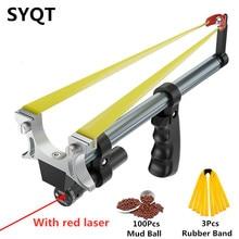 Tige droite haute précision télescopique haute puissance Laser rouge plat élastique acier inoxydable chasse extérieure catapulte fronde
