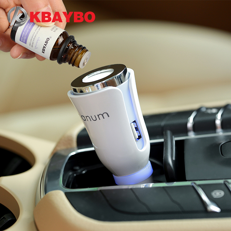 KBAYBO Car Aroma Diffuser Car Aromatherapy Mat Diffuser With Dual Power USB Car Charger