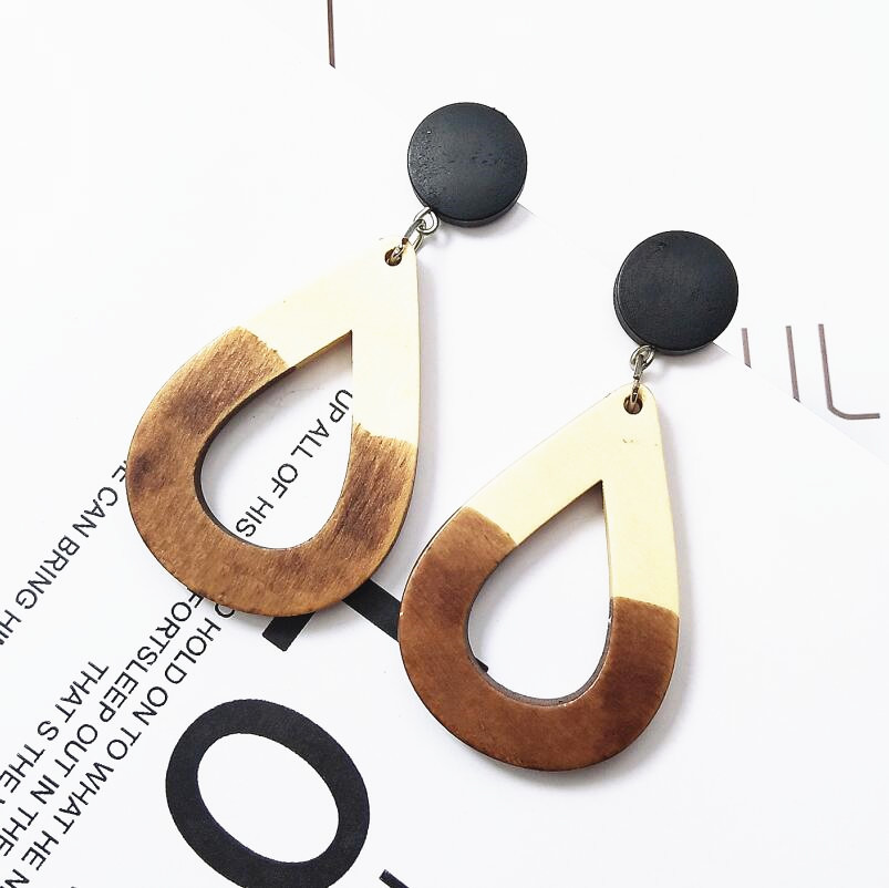 New Big Geometric Earrings for Women Statement Gold Long Dangle Drop Earrings Women Fashion Bohemia Jewelry