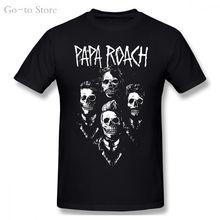 Оригинальная облегающая футболка papa roach i думаю что мне