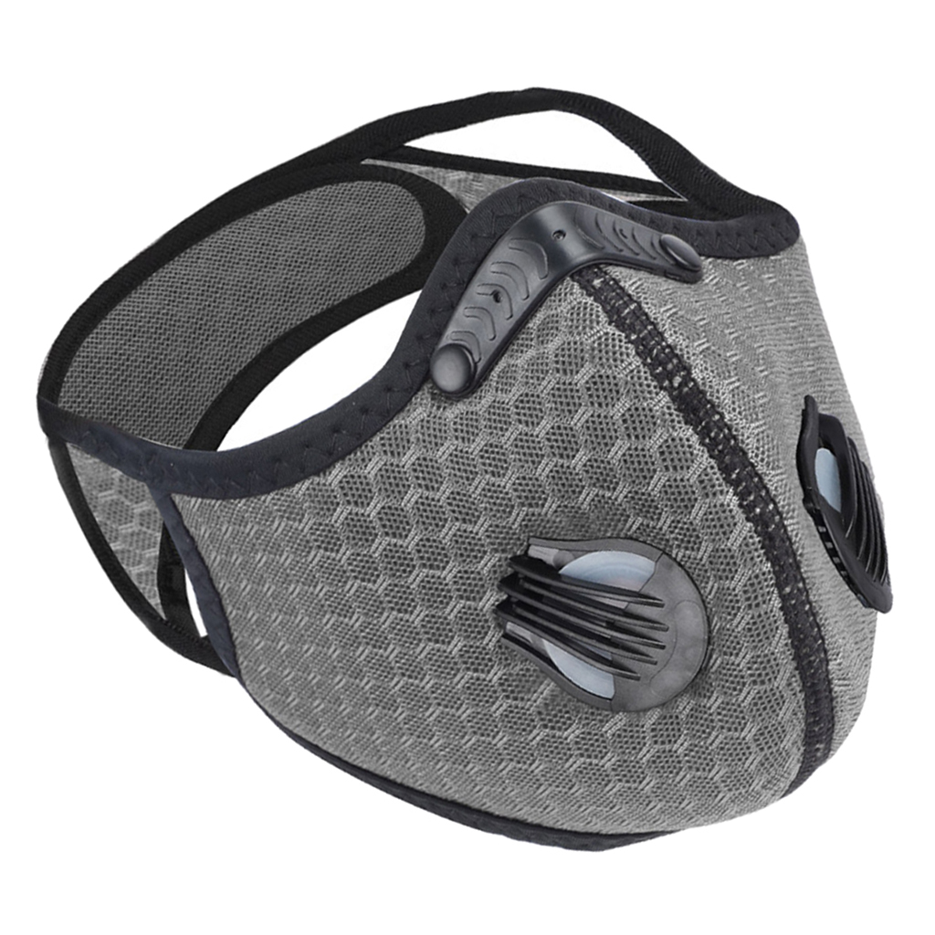Habea2e802e6c4d63abe626046ecfacc80 Neoprene Cycling Face Mask Cycling Half Face Mask Biking Adjustable Facemask Activated Carbon Face Cover