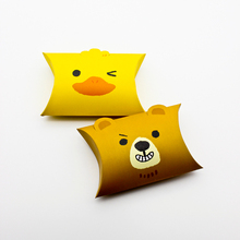 10PCS Animal Small Pillow Box Bag Duck Bear Candy Boxes Baby Chocolate Cookie Paper Gift Packaging Kids Birthday Party Favor