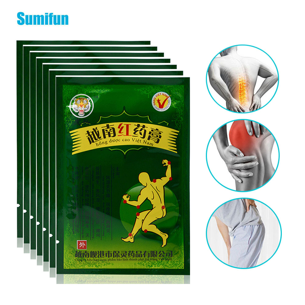 48Pcs Vietnam Red White Tiger Balm Medical Plaster Body Back Pain Relieving Patch For Rheumatoid Arthritis Orthopedic Joint C077