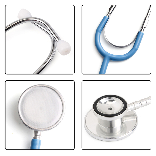 Portable Dual Head Stethoscope Doctor Medical Stethoscope Professional Cardiology Medical Equipment Device Student Vet Nurse 1