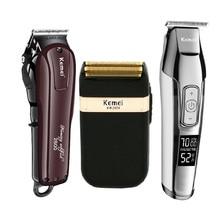 Kemei Professional Hair Clipper ไฟฟ้าไร้สายชาร์จผม Trimmer Beard มีดโกนหนวดตัดผมตัด