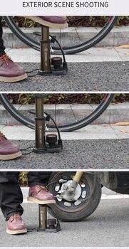 Nowy rower pompka 160PSI Gauge pedał przenośna pompka podłogowa wąż zewnętrzny pasuje do Presta Schrader PMP014